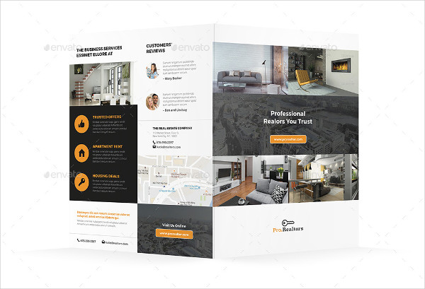 modern real estate bi fold brochure