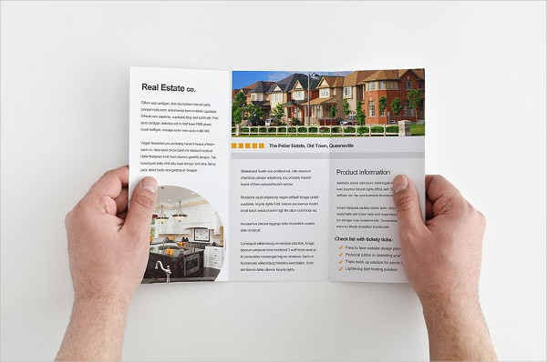 modern real estate tri fold brochure