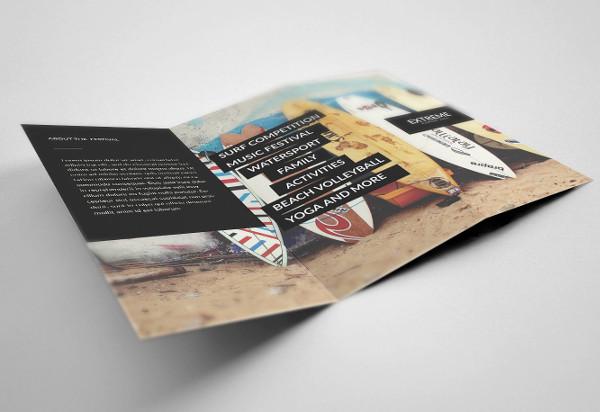 modern tri fold event brochure