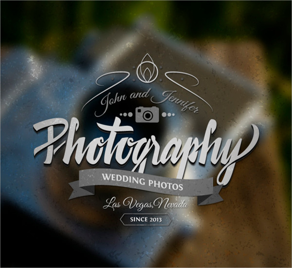 modern wedding photography logo