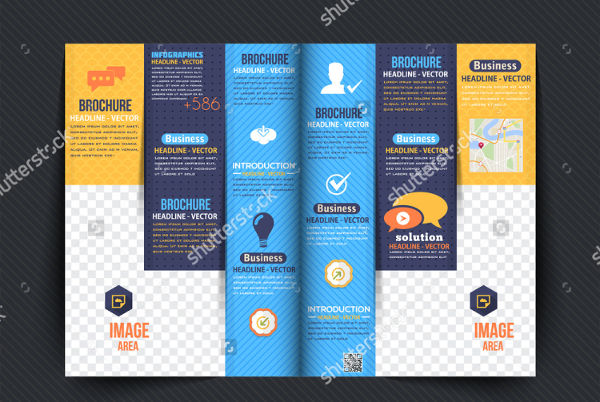 multipurpose bi fold business brochure