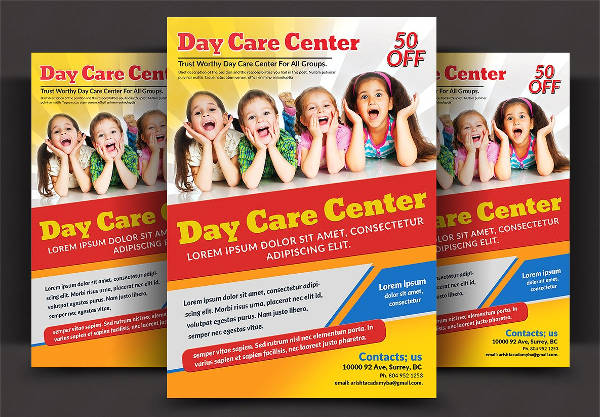 multipurpose daycare flyer