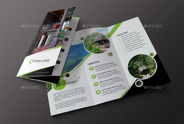 multipurpose travel advertising brochure