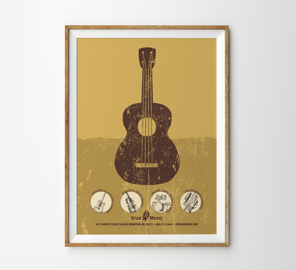 music advertisement vector poster