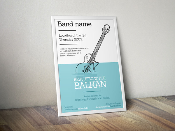 music band event poster