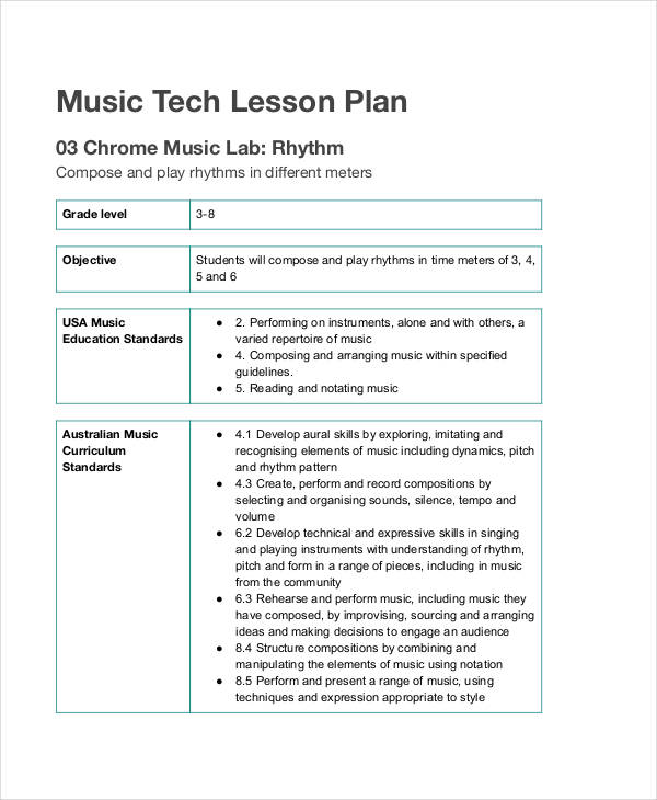 62 examples of lesson plans word pdf examples - Design and technology lesson plans ...