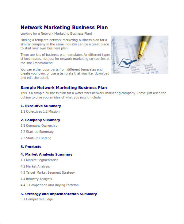 Network Marketing Business Proposal