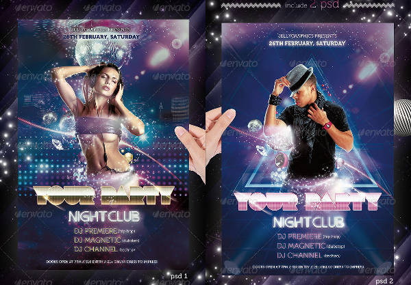 night club event flyer