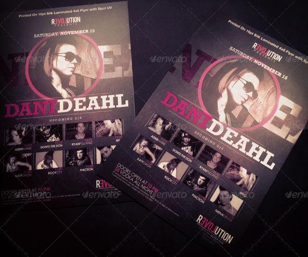 nightclub dj event flyer