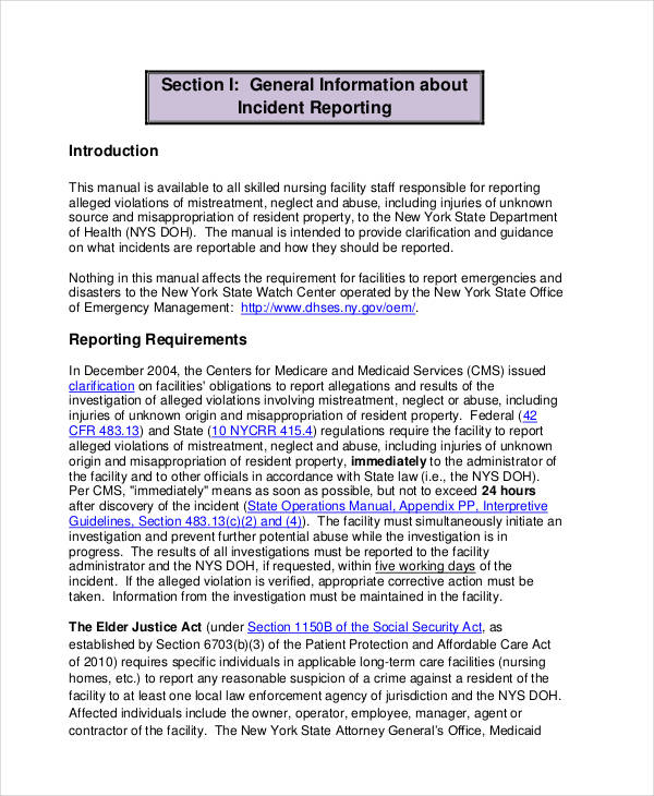 41 Incident Report Examples Samples Pdf Doc Pages Examples