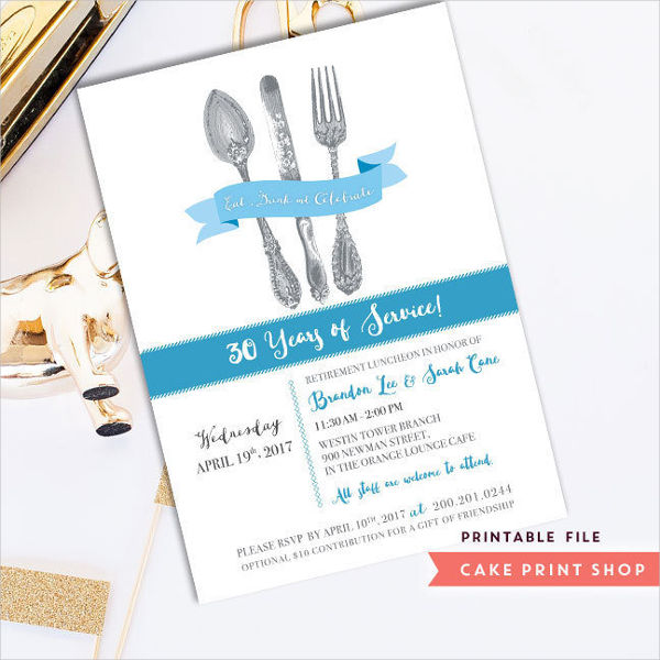 19 Lunch Invitation Designs Examples Psd Word Pages Examples