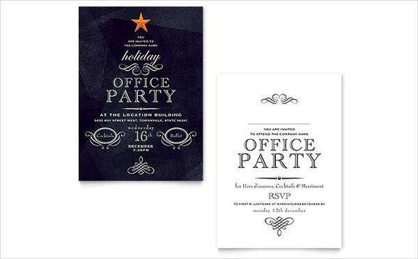 office holiday dinner invitation