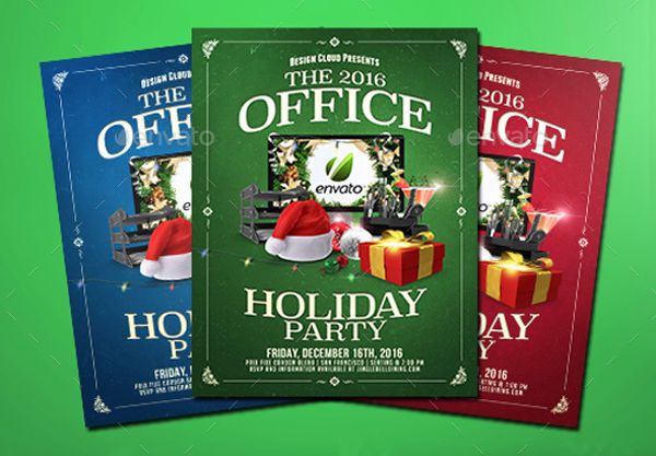 office holiday party flyer1