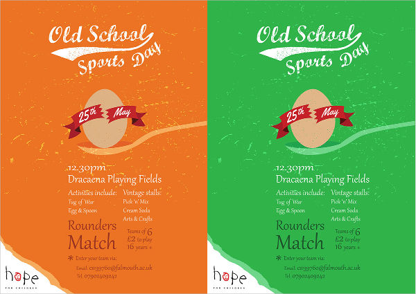 -Old Sports Event Poster