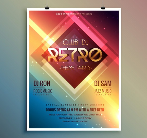 -Party Event Poster Vector