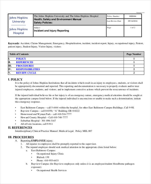 Amazing Patient Injury Incident Report Intended For Medical Incident Report Sample