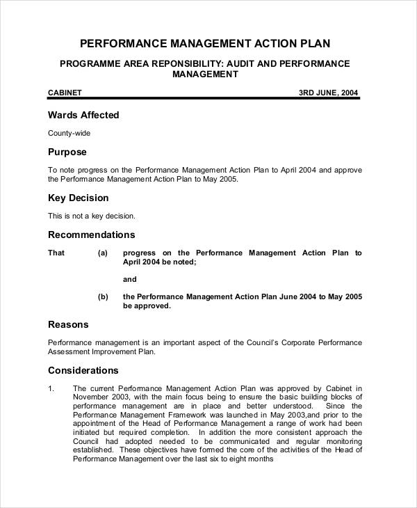 performance management action plan