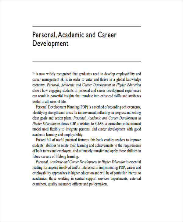 personal academic development plan