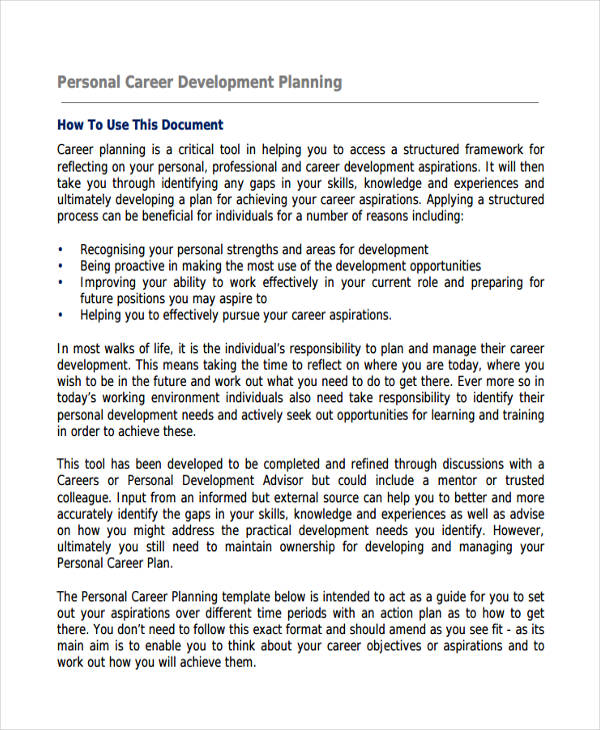 Examples Of Development Plans