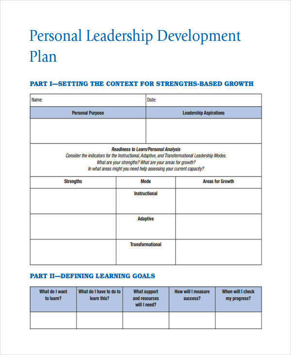 personal leadership development plan1