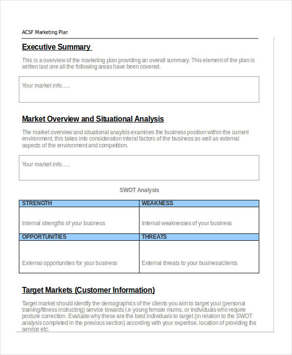 39+ Marketing Plan Examples & Samples