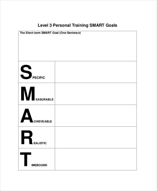 personal training smart goals
