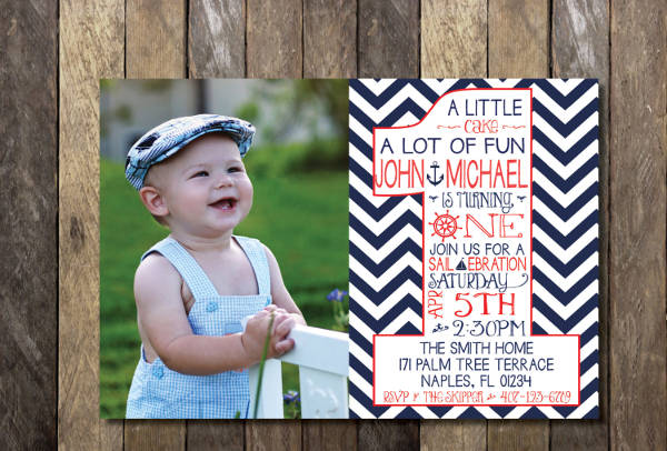 personalized 1st birthday invitation