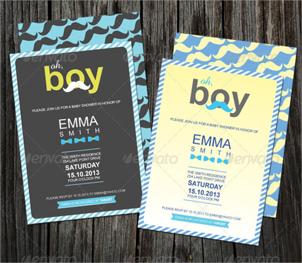 personalized baby boy shower invitation