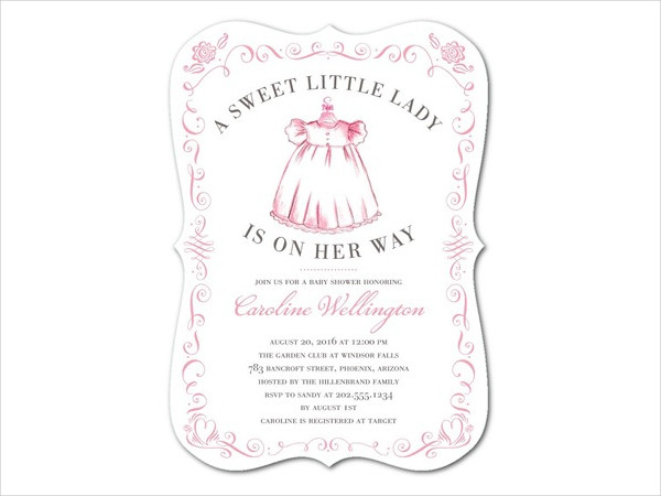 Personalized Girl Baby Shower Invitation