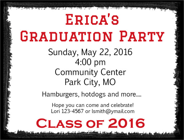 Personalized Graduation Party Invitation