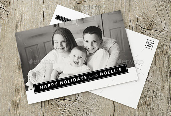 personalized photo holiday greeting card