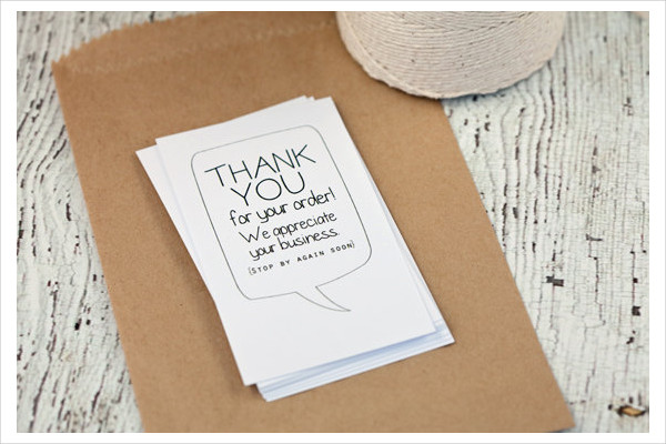 personalized thank you greeting card