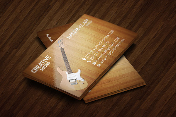 personalized wooden business card