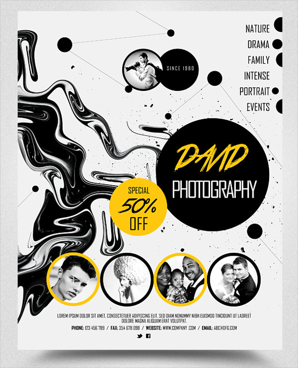 photography promo business flyer