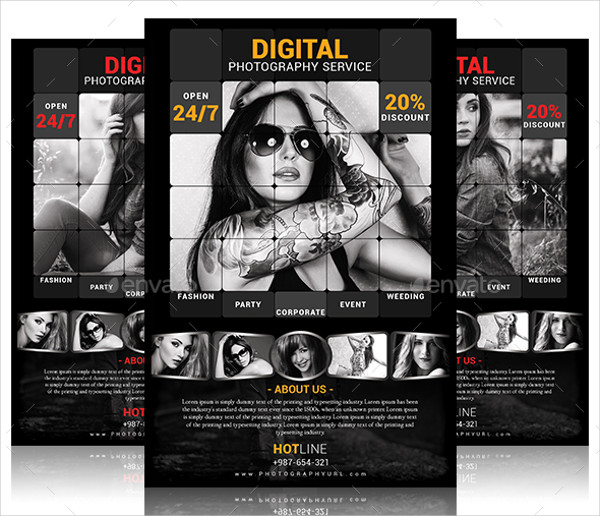 photography service psd flyer