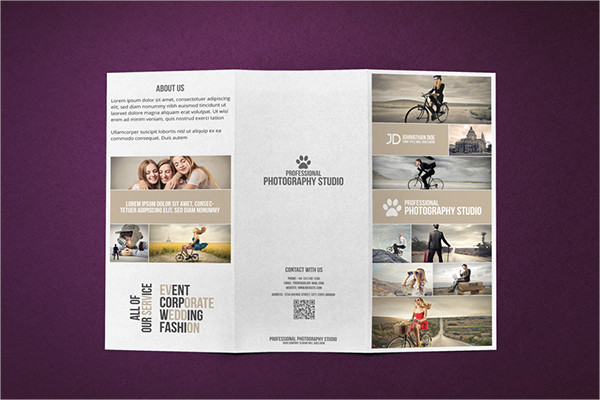 photography studio tri fold brochure