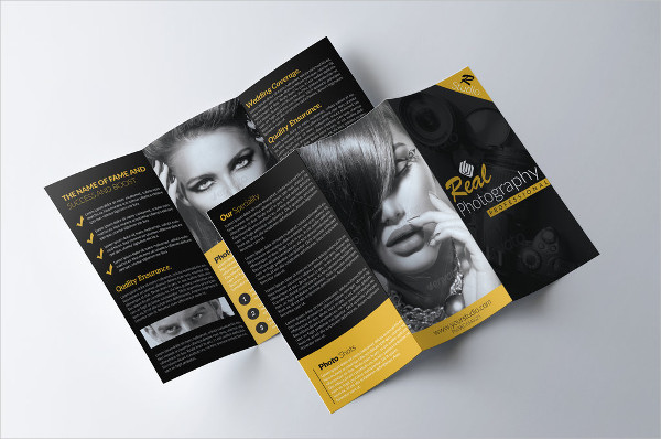 photography tri fold business brochure