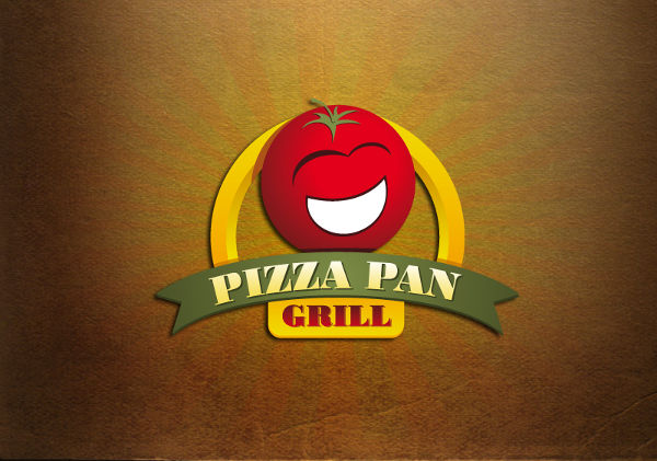 pizza restaurant cartoon logo