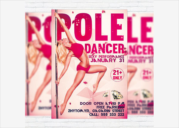 pole dance party flyer1