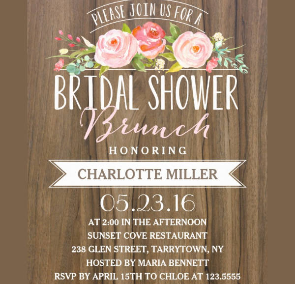 -Printable Bridal Shower Brunch Invitation