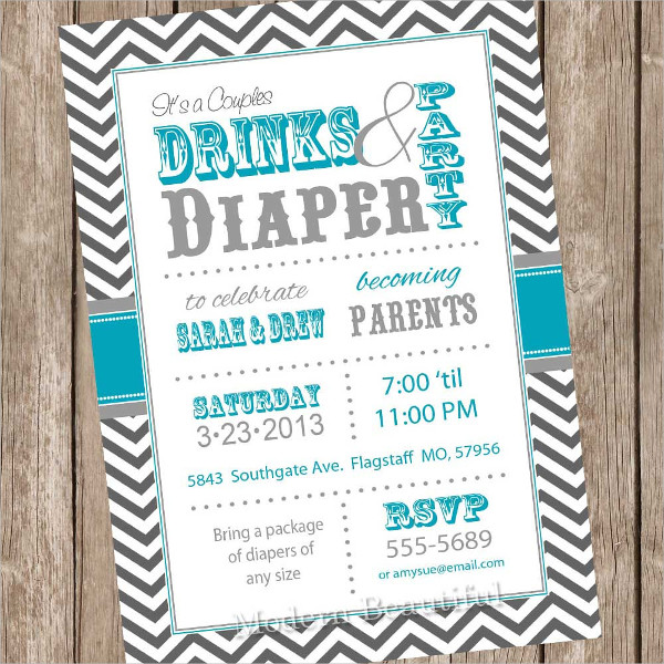 printable couples baby shower invitation