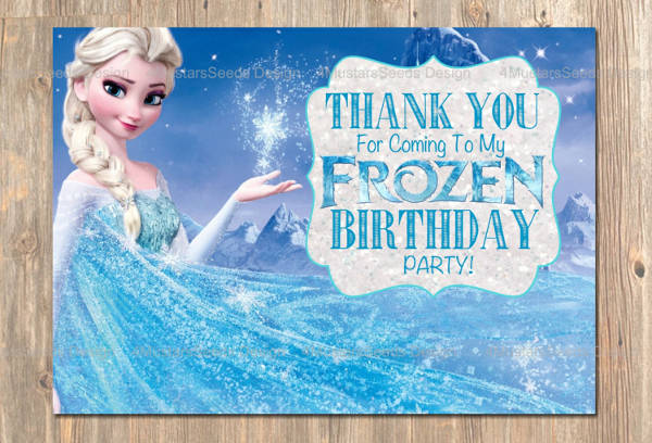 printable frozen birthday card