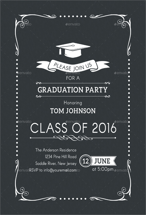printable graduation party invitation1