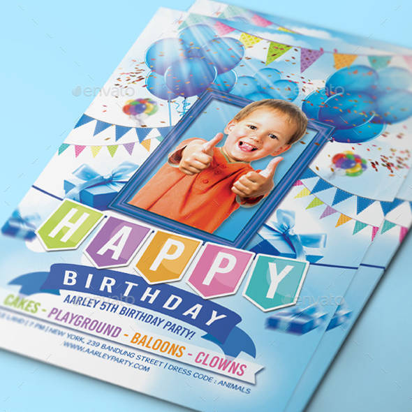 printable kids birthday invitation