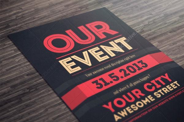 printable minimalist event poster