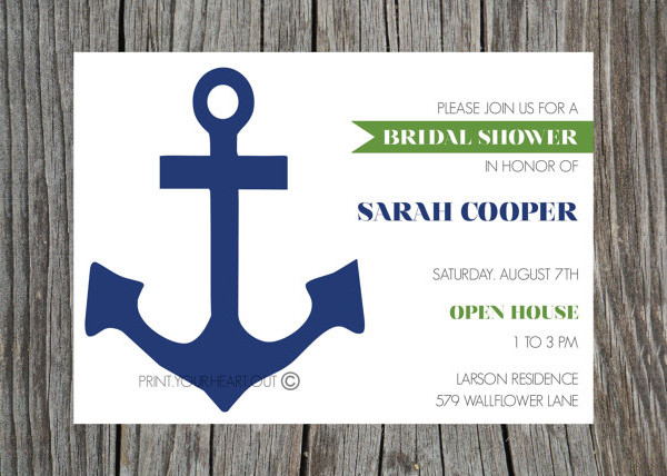-Printable Nautical Bridal Shower Invitation