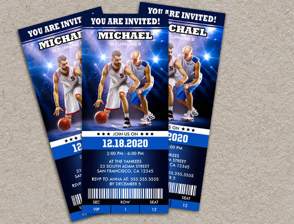 printable sports event invitation