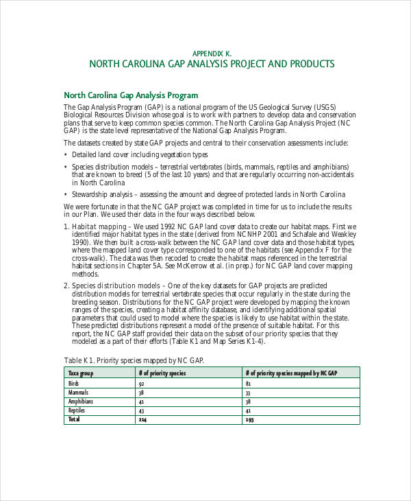 product range analysis
