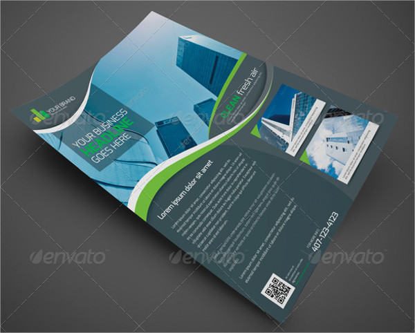 professional clean business flyer