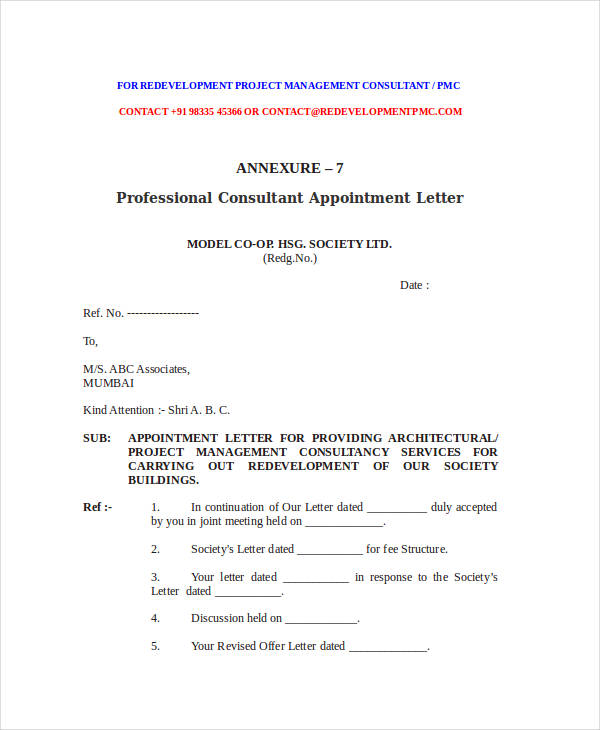 49 Appointment Letter Examples & Samples PDF DOC